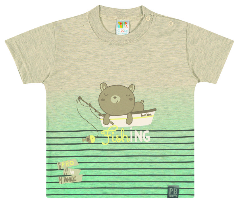 Baby Clothing - Catalog: 2014 Cruise Line.   Name: Fishing Bear Tee. Available in 4 colors.