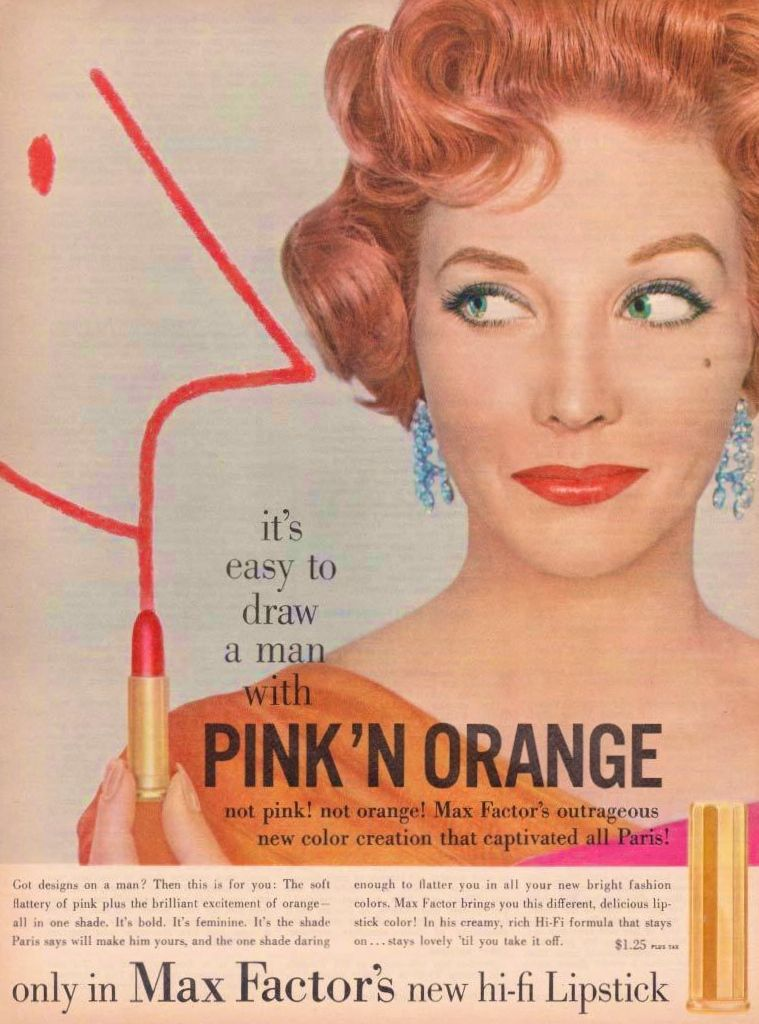 Max Factor 'Pink 'N Orange' Lipstick Ad (With images