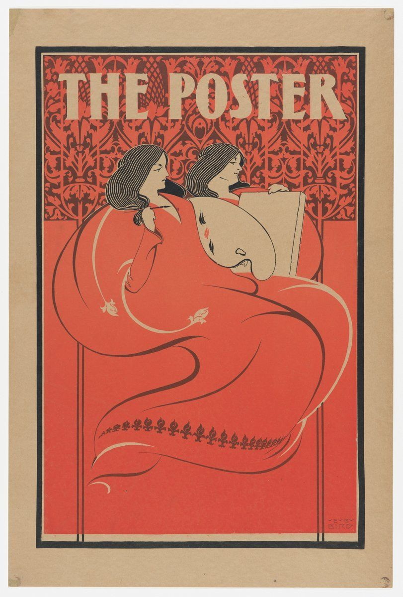 American Art Posters Of The 1890s William H Will Bradley 1868 1962 Art Nouveau Poster Poster Art Poster Prints