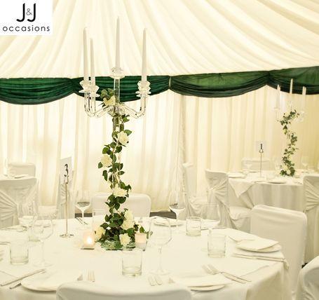Crystal candleabra Keywords: #weddings #jevelweddingplanning Follow Us: www.jevelweddingplanning.com www.facebook.com/jevelweddingplanning/