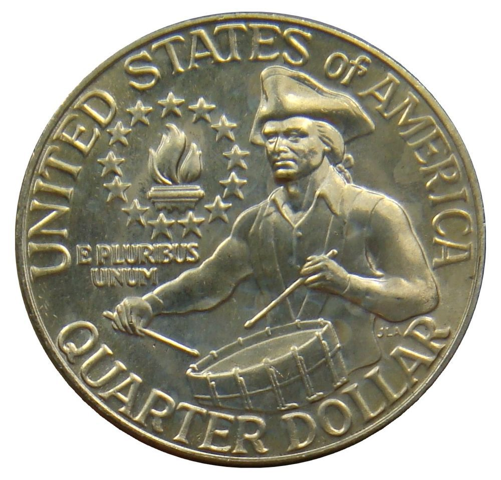 G21 Usa United States 1 4 Quarter Dollar 1976 D Trommler