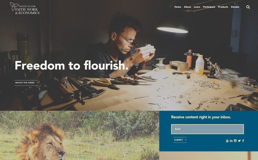 Institute For Faith Work And Economics Web Design Web Design