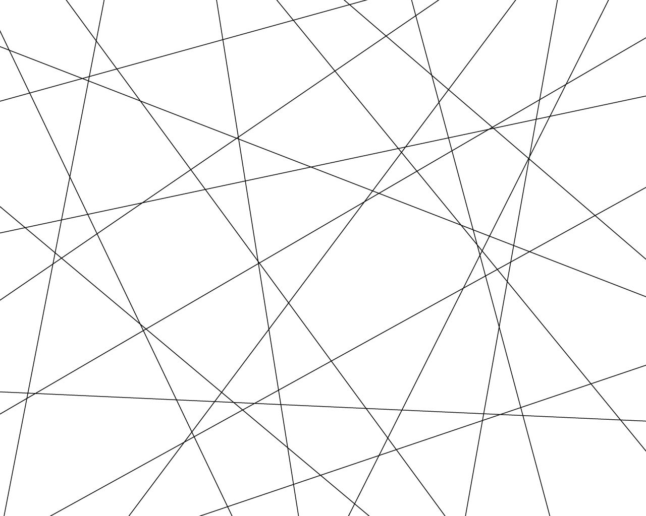 Simple Geometric Line Art Images