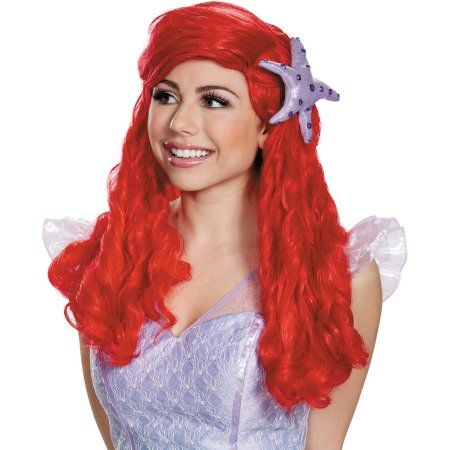 Prestige Ariel Wig Adult Halloween Accessory, Women's, Red