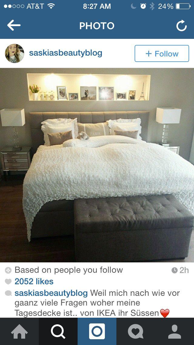 cia saskiasbeautyblog Schlafzimmer Pinterest Schlafzimmer - wandfarbe im schlafzimmer erholsam schlafen
