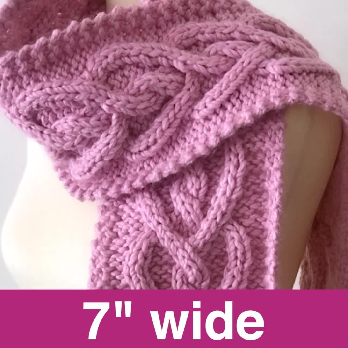 Photo of Celtic Heart Cable Knit Scarf Pattern | sideboard