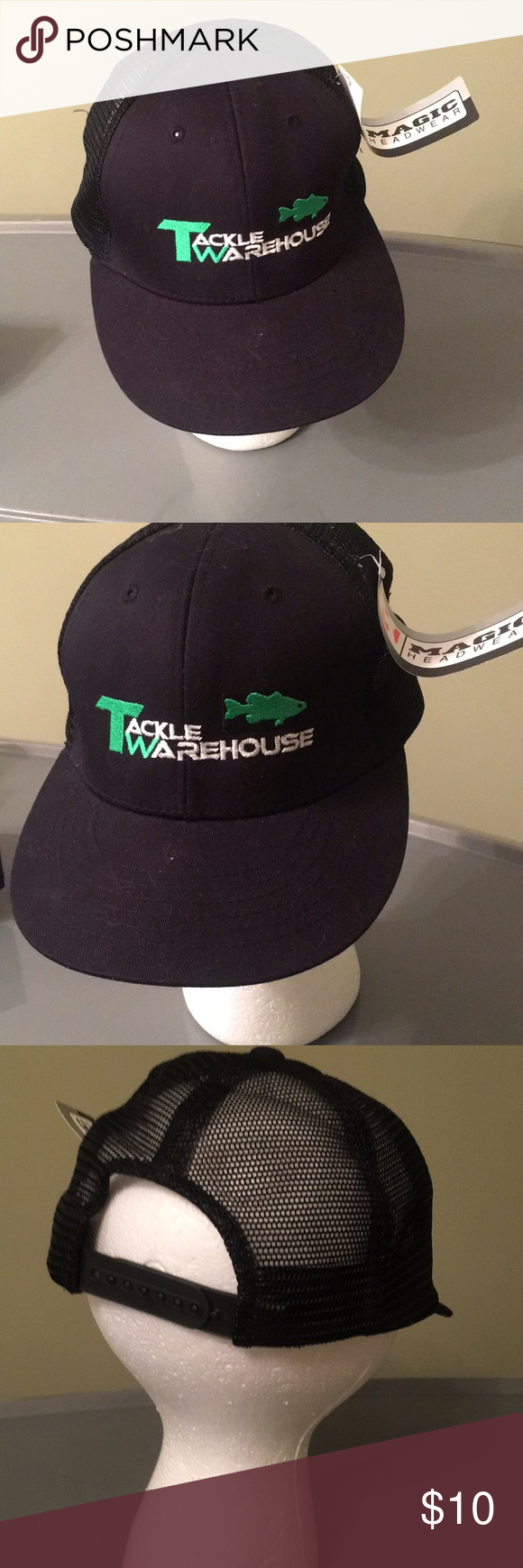 609e6bf432649 Tackle Warehouse hat Black fishing hat by Tackle Warehouse. NWT‼ magic  headware Accessories Hats