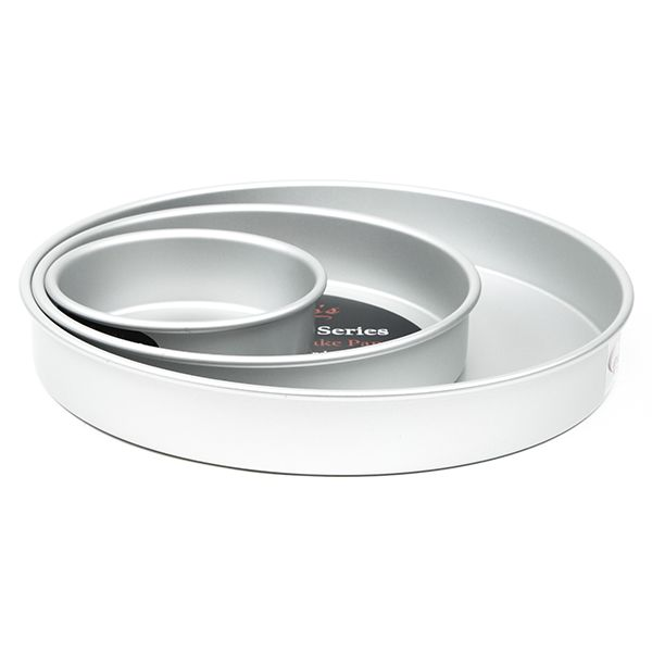 """Cake Pan Set of 3 - Round 2 Inches (6"""", 10"""" 14"""") by Fat Daddio's Fat Daddio's Round Cake Pans"""