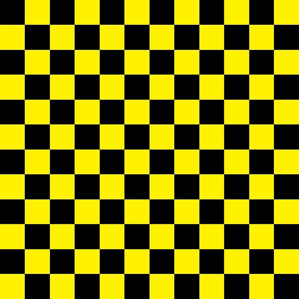 Checkered Black And Yellow By Lornakay Redbubble In 2020 With