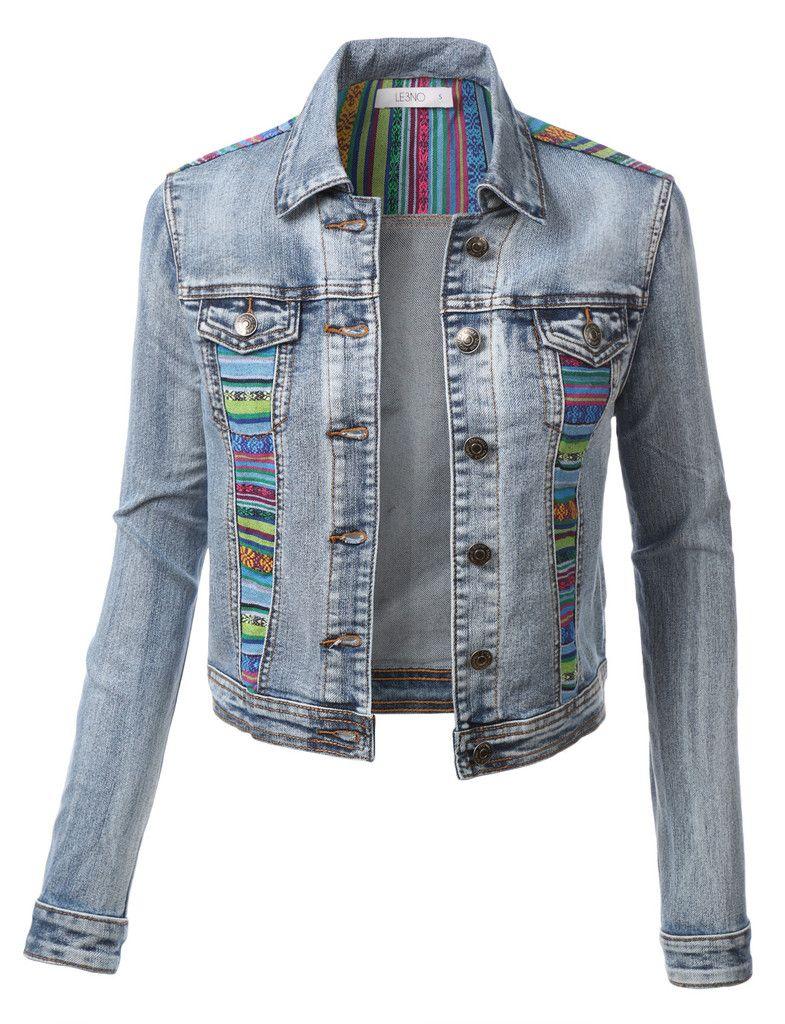 Slim Mid Length Lavado Jeans Denim Jacket | Gearbest