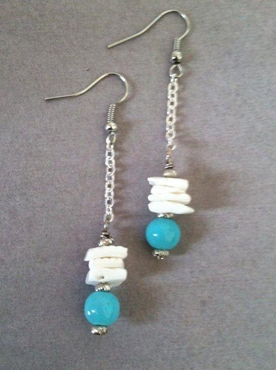Puka Shell Dangle Earrings  #pukashells #earrings #jewelry #LuckyLukai