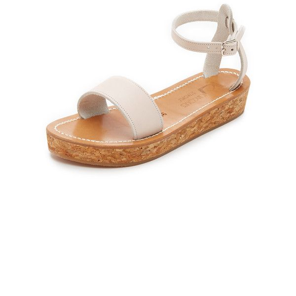 b80f0a7fc86 K. Jacques Talloire Flatform Sandals (4 815 ZAR) ❤ liked on Polyvore  featuring