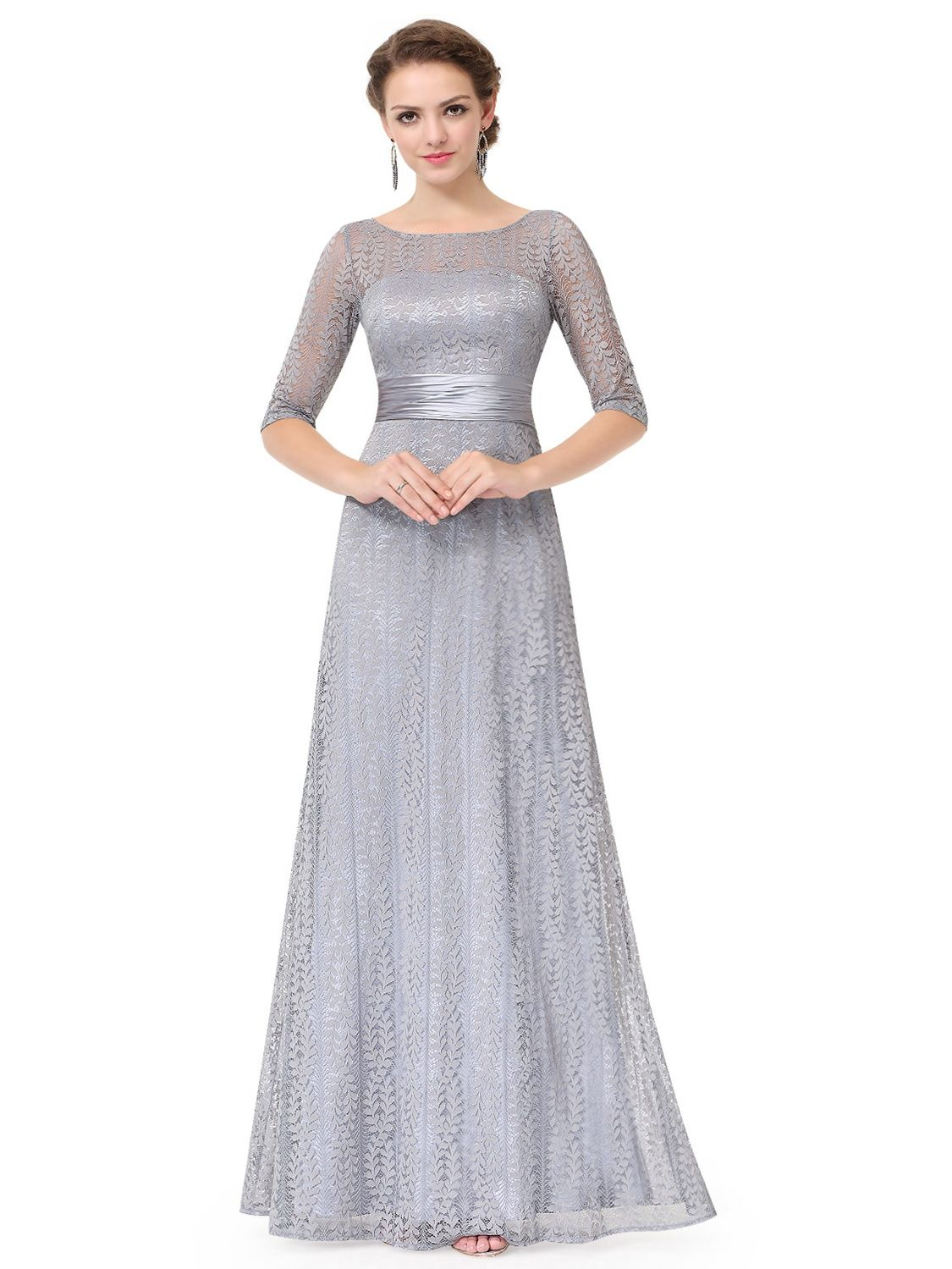 Ever Pretty Ever Pretty Women S Floral Lace Formal Evening Dress Mother Of The Bride Dresses For Women 08878 Gray Us4 Walmart Com In 2021 Elegant Wedding Guest Dress Evening Dresses With Sleeves [ 1499 x 1125 Pixel ]