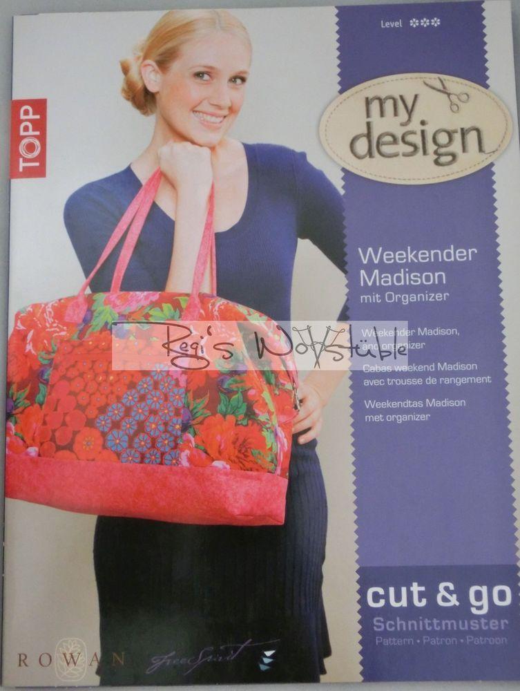 Topp my design cut & go Taschen-Schnittmuster: Weekender Madison + Organizer