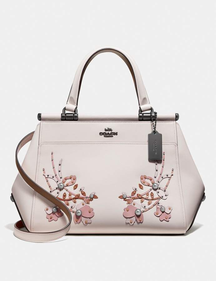 Grace Bag With Floral Embroidery In 2020 Bags Leather Cheap Purses