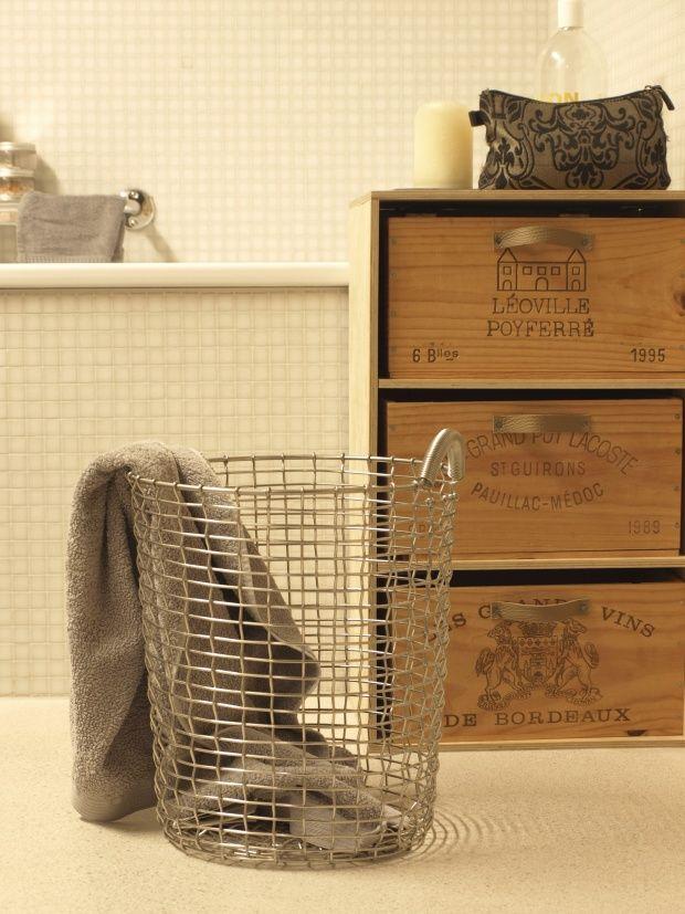 Wã¤Schekorb Badezimmer | Unser Waschekorb Diy Pinterest Waschekorb Korb Und Wasche