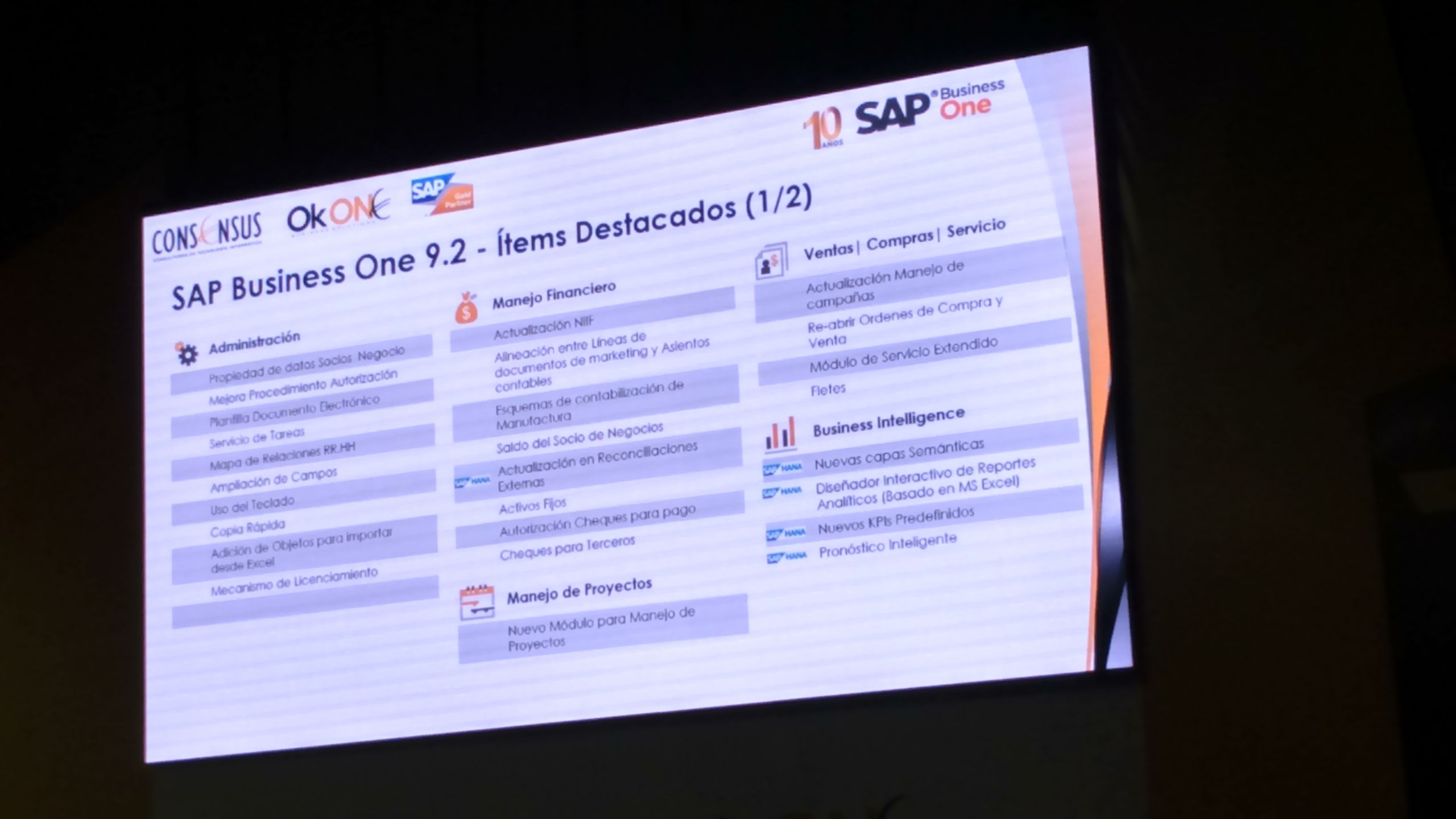 Pin De Rk7 Agencia En Sap Business One Consensus 2016