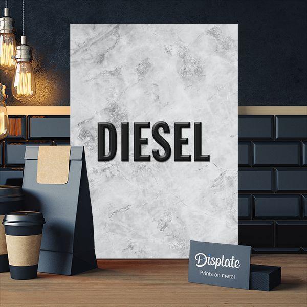 Metal Poster Marble Diesel Brand