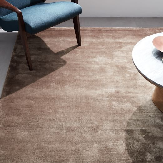 Lucent Rug Taupe West Elm Rugs Solid Color Rug Modern Wool Rugs