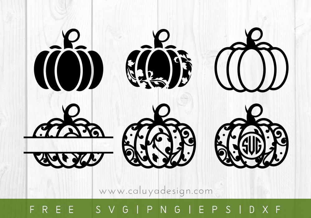 Free Pumpkin Monogram SVG, PNG, EPS & DXF by Cricut
