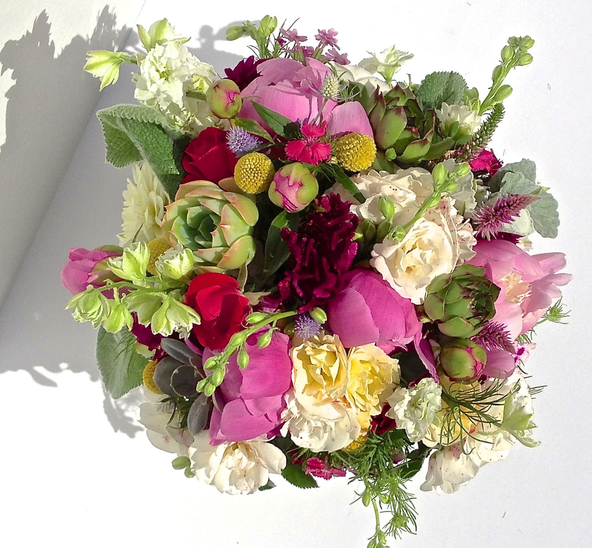 floral design any vase peonies garden roses succulents