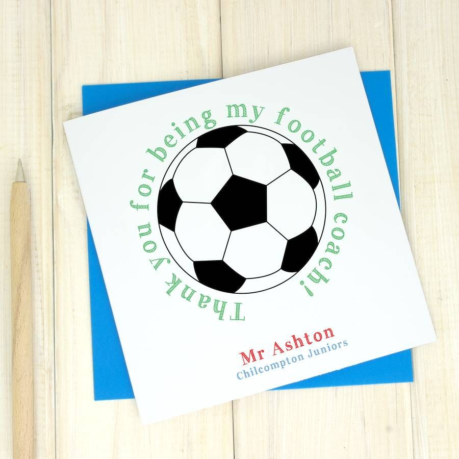 Thank You Football Dalep Midnightpig Co Regarding Soccer Thank You Card Template Business Professional Thank You Card Template Personalized Card Your Cards