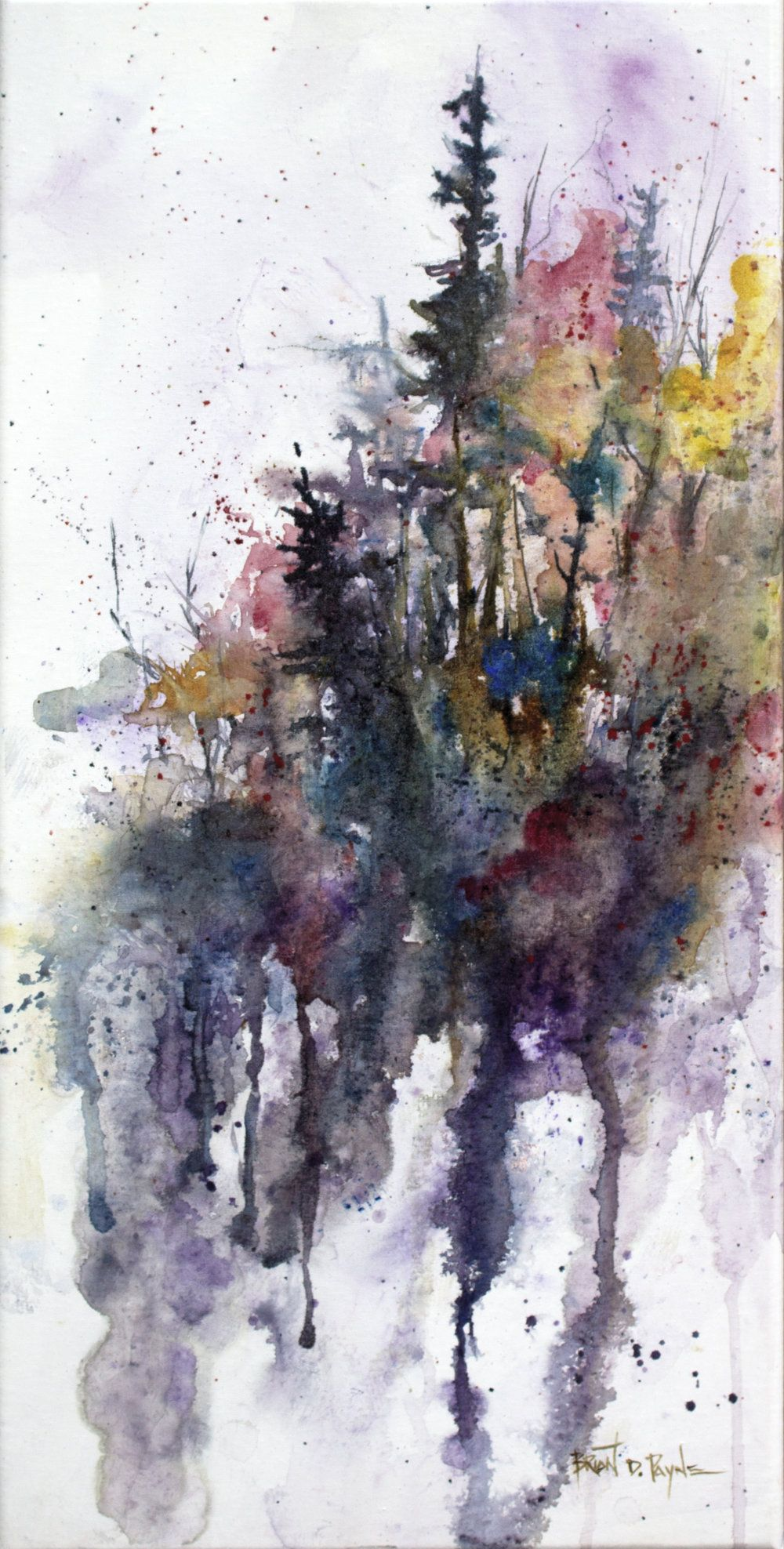 Art Brian D Payne Studio Abstract Watercolor Art Fall