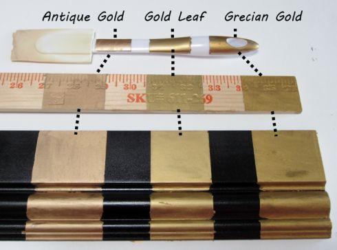 Three golds comparing rub n buff s gold finishes diy ikea