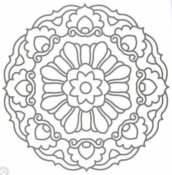 Mandala design | mandala | Pinterest | Mandalas, Colores and Bordado