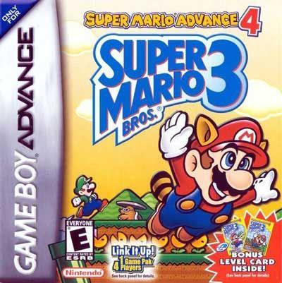 Super Mario Advance 4 Super Mario Brothers 3 Gba Game Super