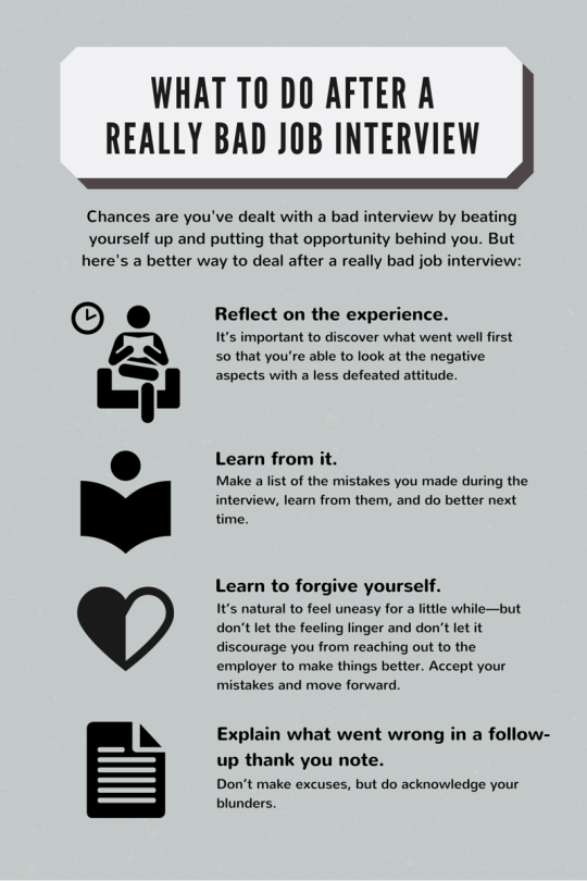 what to do after a really bad job interview forbes - Bad Interview Now What How To Learn From A Bad Job Interview