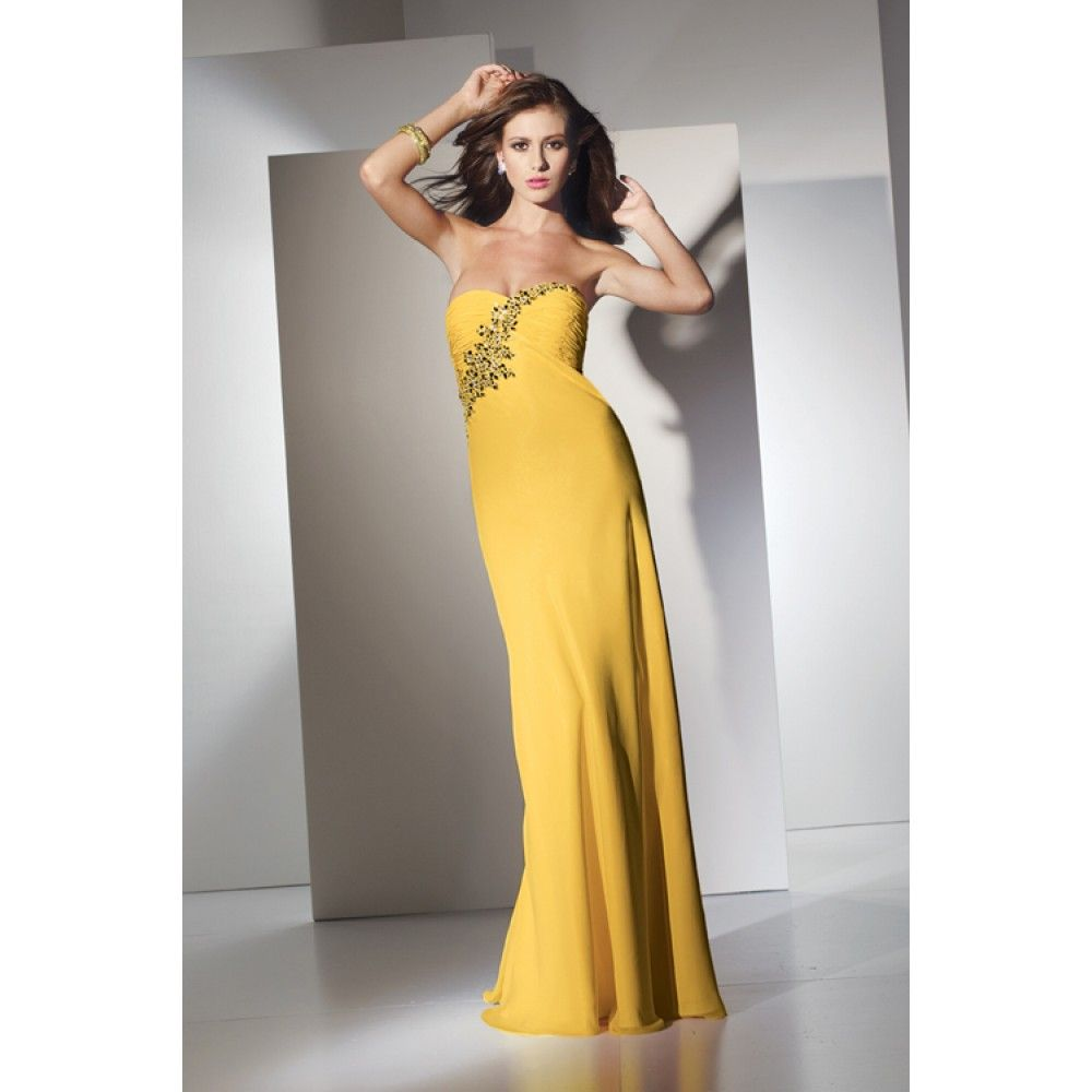 Yellow Long Dresses Prom - Ocodea.com