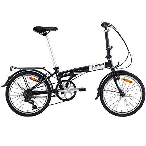 Hasa Folding Foldable Bike Sram 6 Speed Black You Can Get