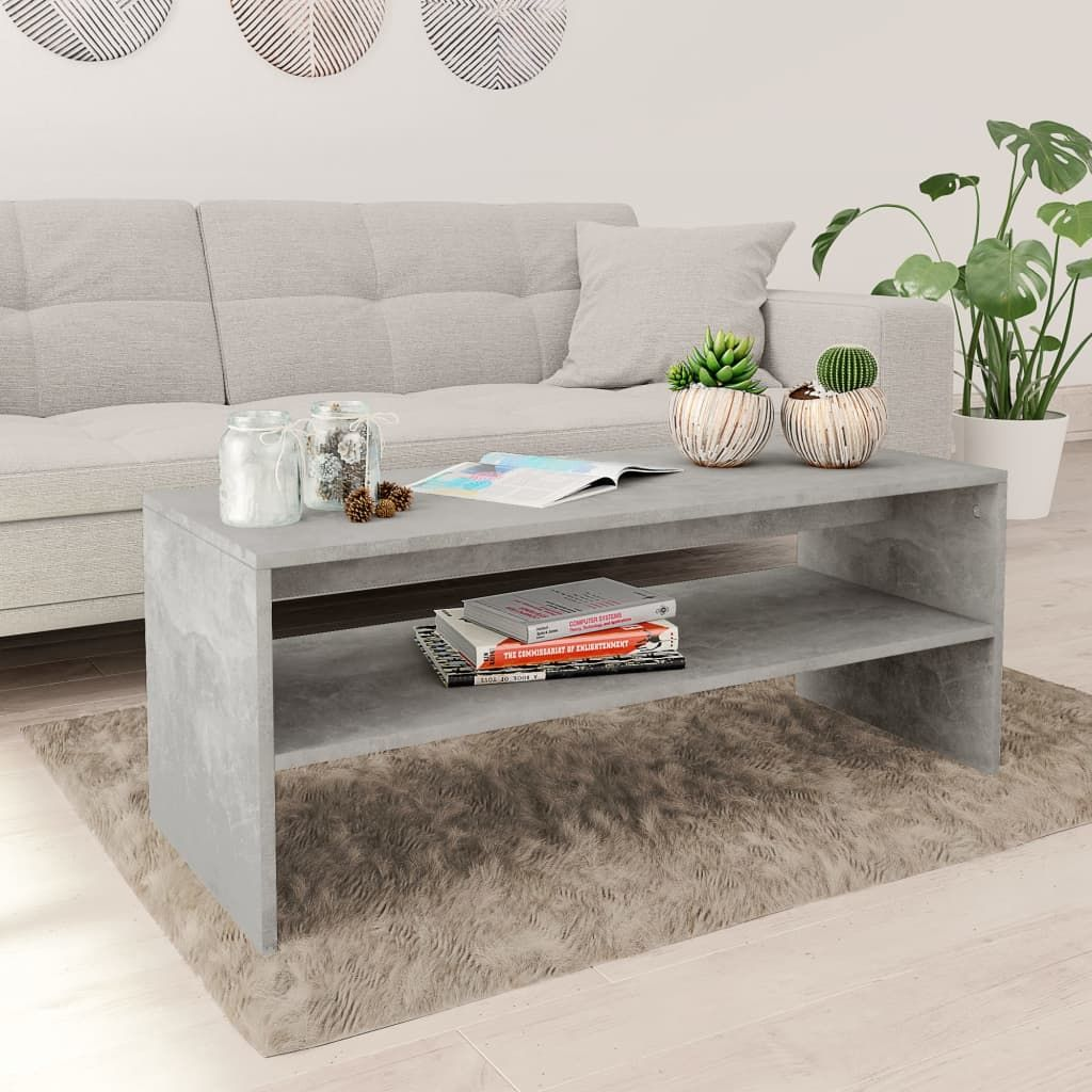 Coffee Table Couch End Side Accent Tea Table Multi Colors - concrete grey