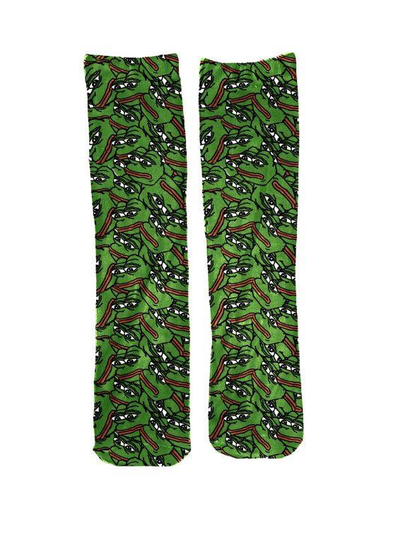 52582a14f8 Pepe Meme Socks by LegionWearUSA on Etsy