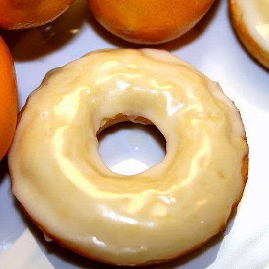 Meyer Lemon Baked Donuts