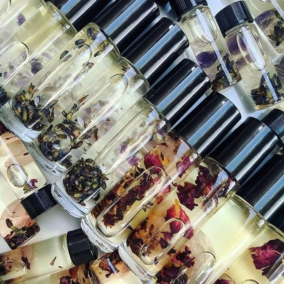 Botanical Infused Favors Gift Ideas For Bespoke Scents: Gemstone Botanical Oils, Anointing Oils, Ritual Oils