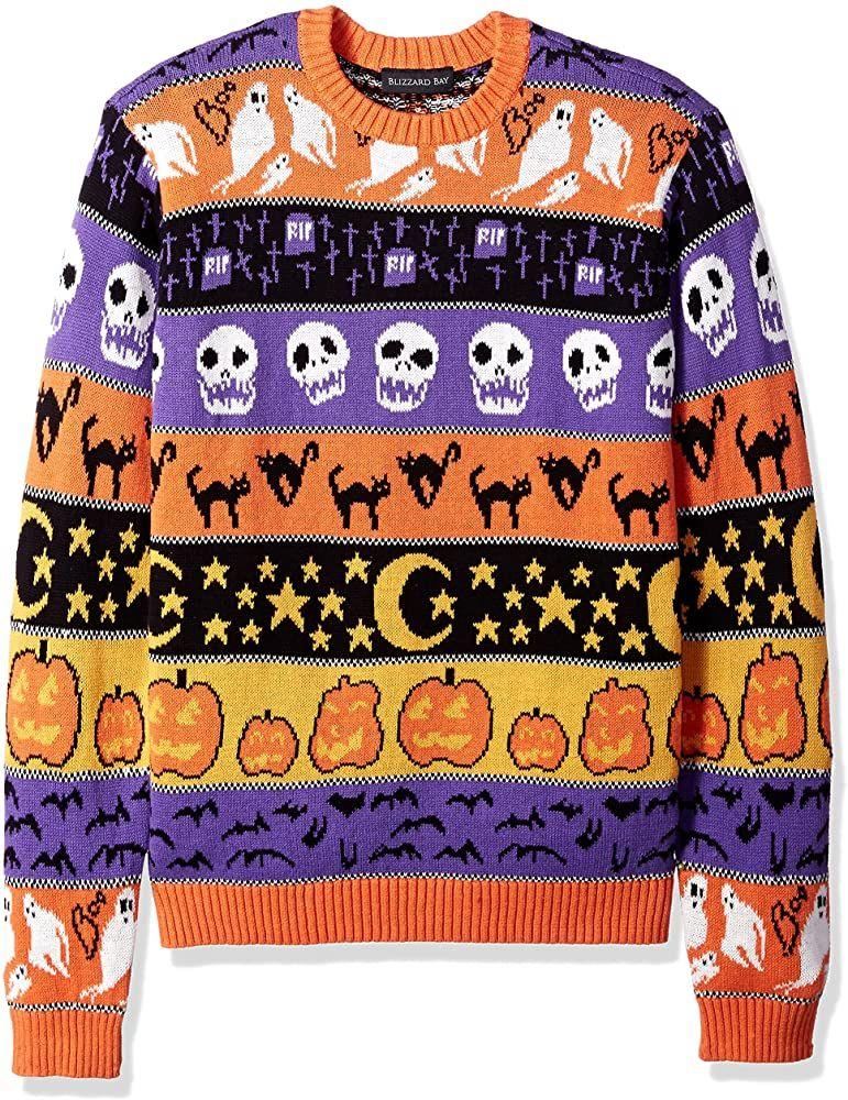 Blizzard Bay Men's Halloween Sweaters, Stripes