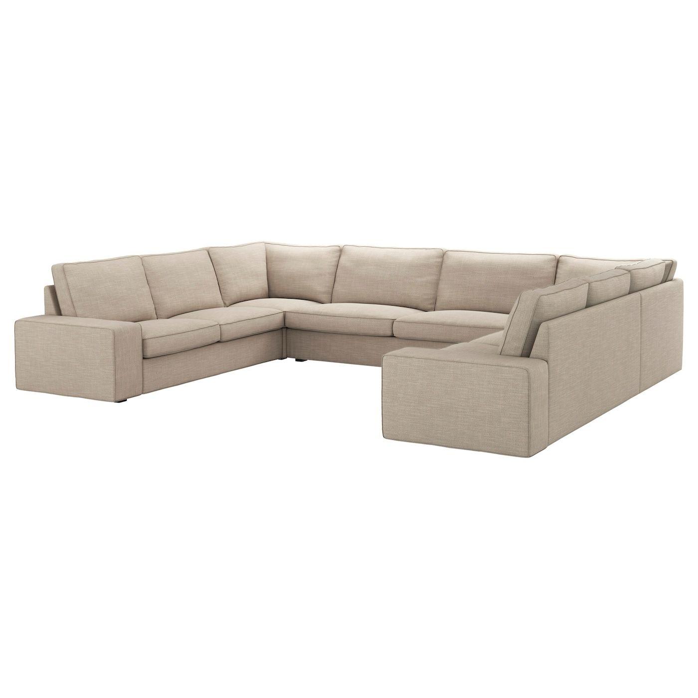 Kivik Sectional 6 Seat Hillared Beige In 2020 Beige Sofa U