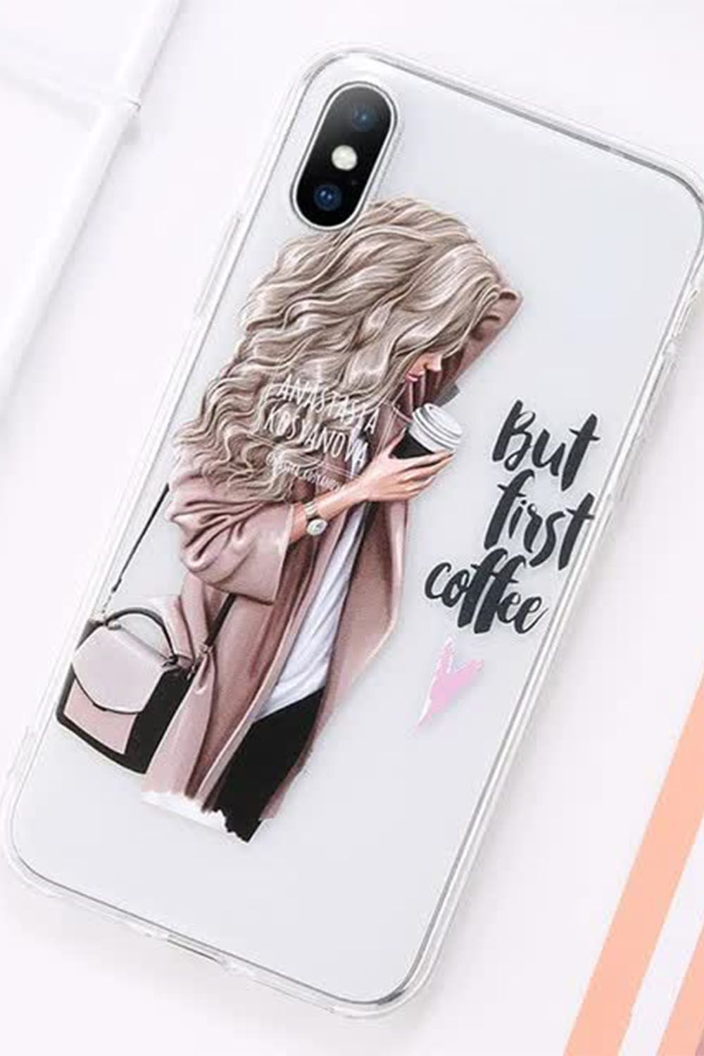 Beautiful Girl Pattern Case For Iphone 6s 6 7 8 Plus 11 Pro Max Transparent Soft Phone Cover For Iphone 11 X Xr Xs Iphone Cases Bff Phone Cases Iphone 6s Case