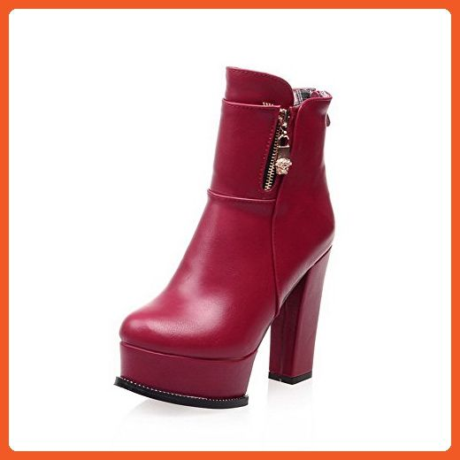Women's Blend Materials Solid Closed-Toe Boots With Slipping Sole and Metal Buckles
