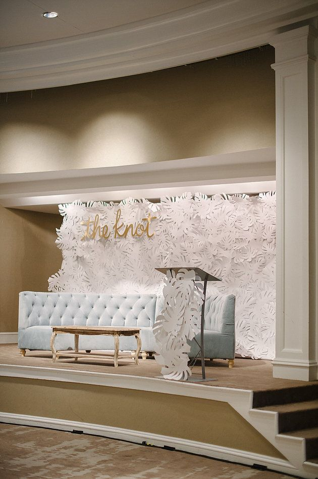 Stage Design For Creative Confernece Photo By Katie Lopez Photography Furniture Nuage Designs Paper Leaves Meldeen And Installed Julia Rohde