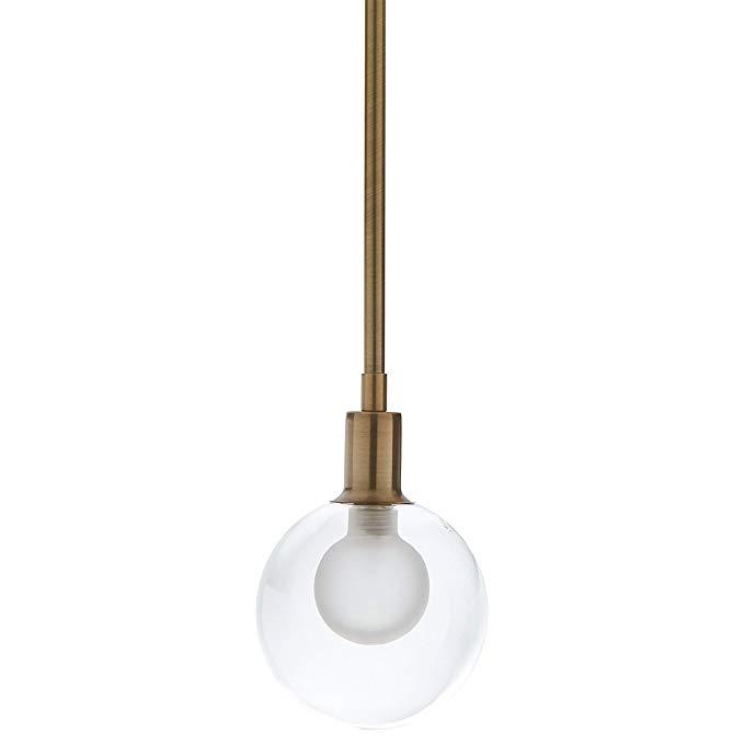 Rivet Mid Century Modern Ceiling Hanging Glass Globe Pendant Fixture With Modern Pendant Light Fixture Mid Century Modern Lighting Pendant Modern Pendant Light