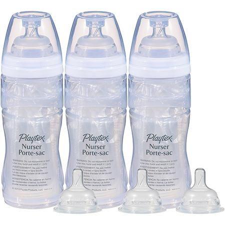 Playtex Drop-Ins Nurser 8-oz Baby Bottles,