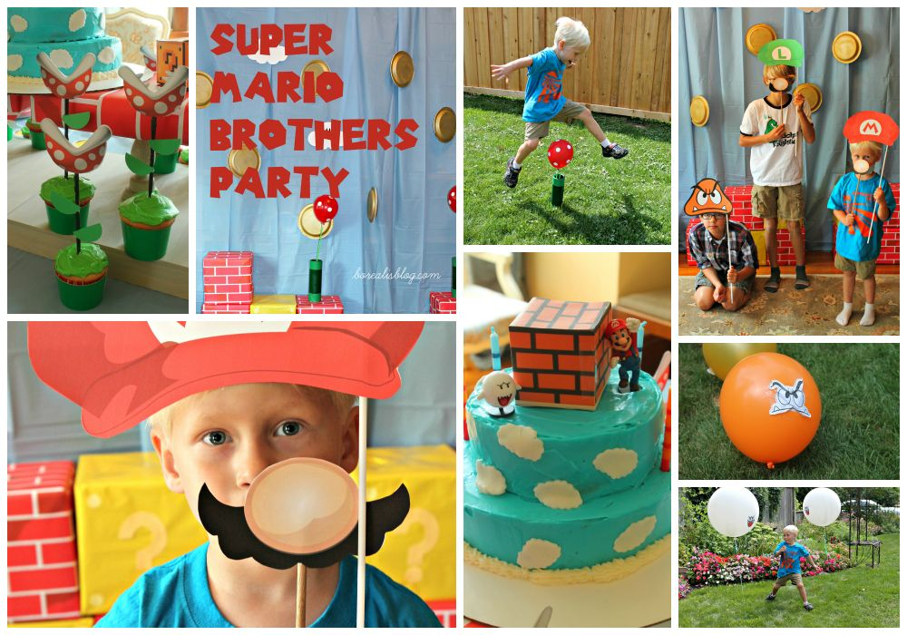 Super Mario Brothers Birthday Party Ideas tutorials links to
