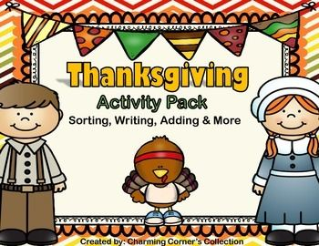 Thanksgiving Activity Pack is a fun way to keep the learning going throughout the holiday season! Great for small group or literacy and math centers.  This pack includes:* Directions for each activity * I can Statements* 1 Set of Vocabulary cards: Words & Pictures* 1 Sorting Activity with Picture Cards Now & Then   Thinking maps included for sorting activity.