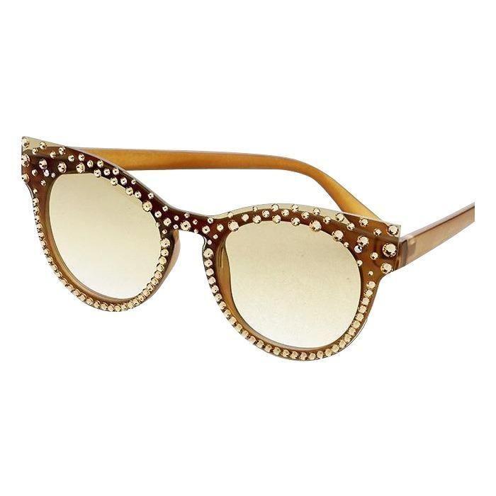 a14154d4975 2018 NEW Oversized Square Frame Bling Rhinestone Sunglasses Women Fashion  Shades Frame Bling Square