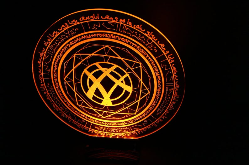 Doctor Strange Magic Symbol W Light Base Etsy Dr Estranho Estranho Desenho