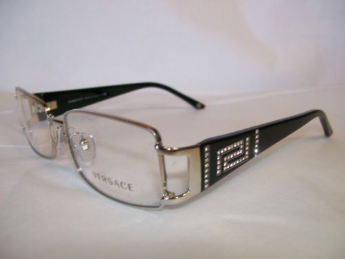 811f3361438 VERSACE GLASSES FRAME VE1163B 1332 SILVER 52-16-130 EYEGLASSES NEW    AUTHENTIC