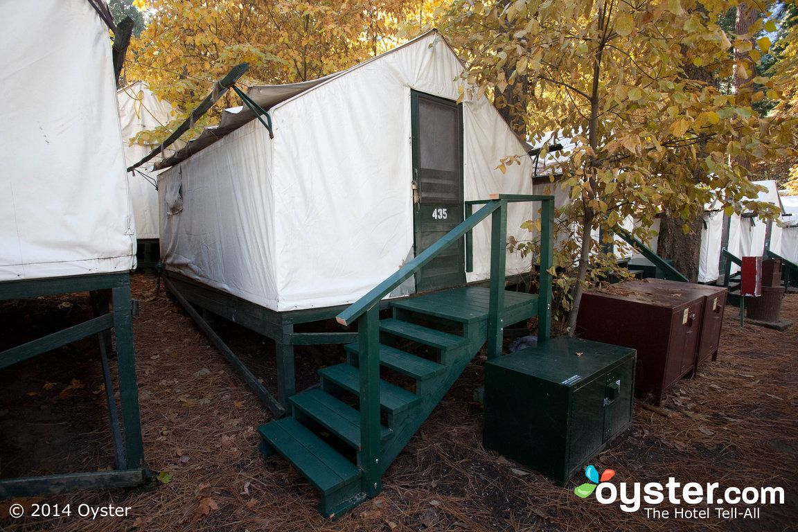The Standard Heated Tent Cabin at the Curry Village in Yosemite & The Standard Heated Tent Cabin at the Curry Village in Yosemite ...